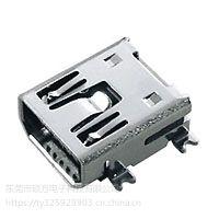 MINI/MICRO USB 连接器 CZ-515 外形尺寸:9.7mm*7.7mm*4.0mm