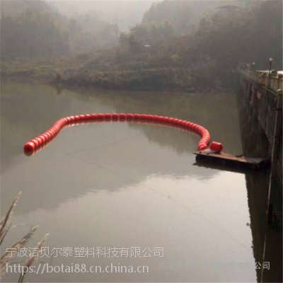 进水口隔离水面漂浮物拦污漂安装方案