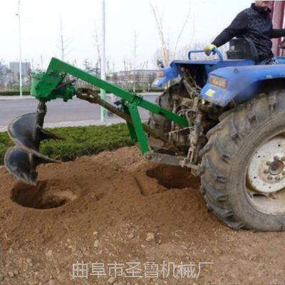 供应拖拉机悬挂式打坑机 圣鲁订做加长挖坑机