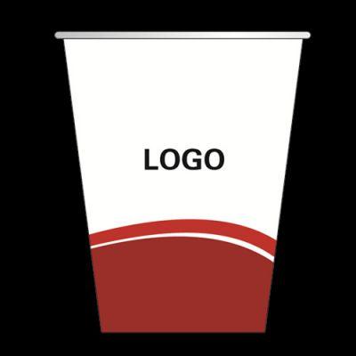 济宁包装印刷一次性广告纸杯商务广告水杯果汁外卖打包杯