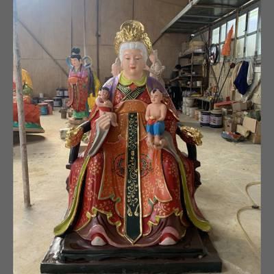 宗教佛像 送子奶奶 劈山老母 碧霞元君 送子观音 十二老母神像厂家