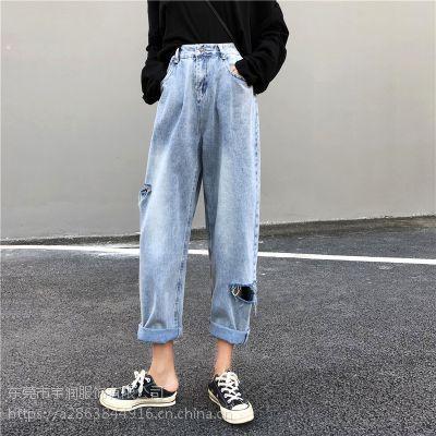 女装牛仔裤便宜九分裤清货休闲裤处理低价清货韩版牛仔裤低价处理