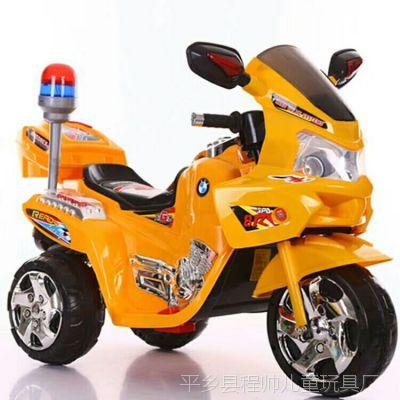 小嘎子儿童电动摩托车三轮电瓶车电动三轮车小孩玩具童车