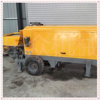 厂家直销微型砂浆上料机 小型二次构造柱泵 工地卧式混凝土细石泵布料机