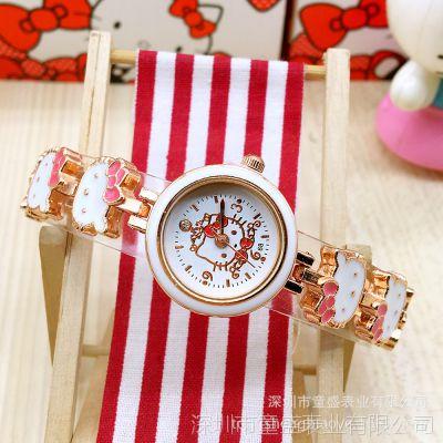厂家直销中高档儿童卡通手表女 小学生凯蒂猫可爱女童手表 批发