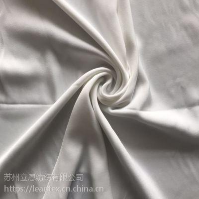 仿真丝法国绒 复合丝色丁缎面雪纺女装面料