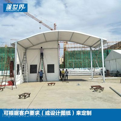 山东工业篷房仓储装配式展览商业景观篷房大型活动板房TPROOM19004