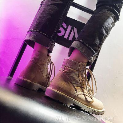 马丁靴女2018夏季英伦风新款高帮平底复古短靴机车工装沙漠女靴