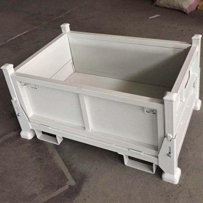 带脚碗可堆垛可折叠金属周转箱
