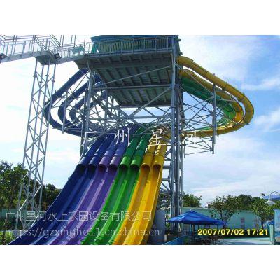 汕头市水上乐园设备定制 章鱼竞赛滑梯设备订做