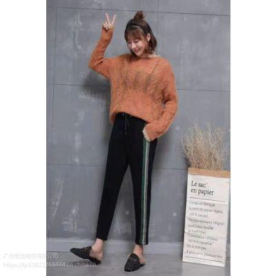 安哥拉羊绒毛衣品牌折扣货源大码女装19新款批发