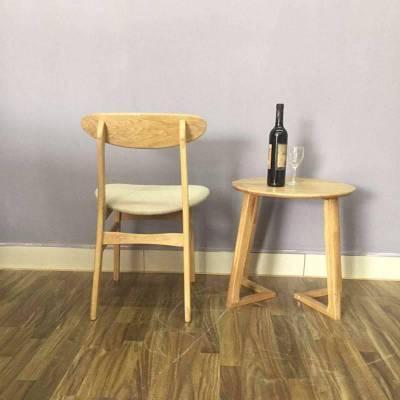进口白橡实木餐椅 蝴蝶椅子 靠背餐椅子 饭店宴会餐椅