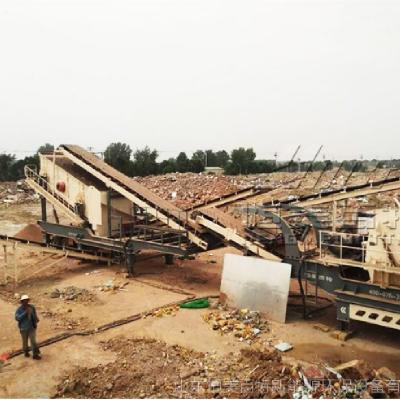 恒美百特年产50万吨移动式石料破碎机 大产量移动碎石机