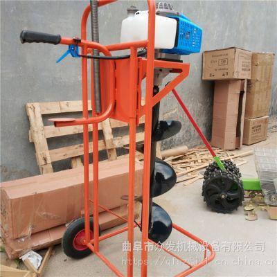 汽油手推挖坑机 单人简单安全操作打孔机 手推挖坑机