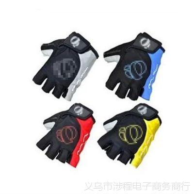 一字米半指手套 自行车半指手套 骑行 硅胶短指手套48g