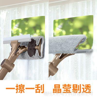 擦瓷砖墙壁清洁工具玻璃清洁器双面刮家用可伸缩厨房浴室清洁刷