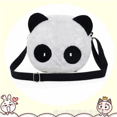 厂家订制毛绒包 手提包 熊猫单肩包 端庄典雅 流行时尚 来图订做