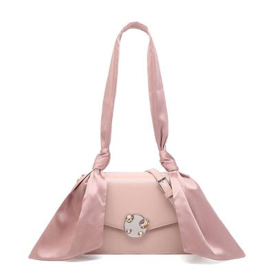 小CK女包CHARLES&KEITH宝石镶钻绸缎包CK2-2078078沙丁包女士PU单肩包一件代发