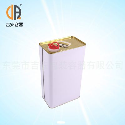 销售 5L方型铁罐,油漆罐机油罐 价格优惠 质量保证