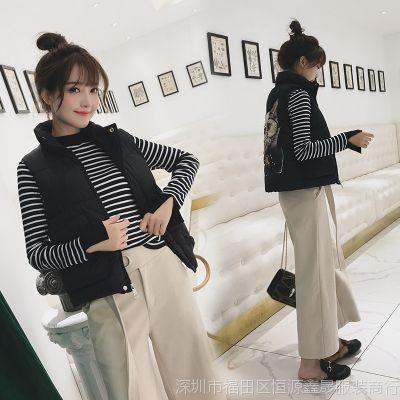 2018秋季新款羽绒棉马甲女韩版短款学生棉衣外套女装无袖背心坎肩