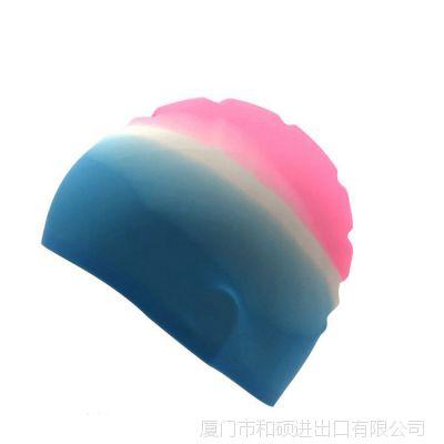 泳帽厂家直销硅 胶单色泳帽 超软护耳硅胶泳帽 儿童纯色游泳帽