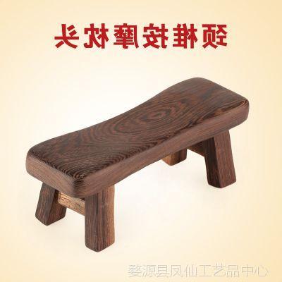 礼品红木颈椎按摩枕头 鸡翅木养生保健枕睡枕 黑檀木硬枕实木质按