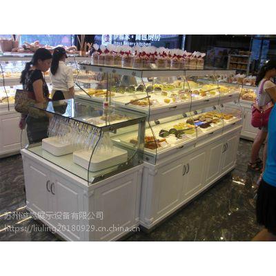 厂家定制面包店用品蛋糕柜面包柜展示柜陈列柜定制加工