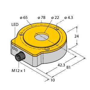 图尔克非接触式编码器RI360P0-QR24M0-INCRX2-H1181