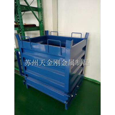 厂家直销重型自卸铁屑箱 废料箱可堆叠底部双开