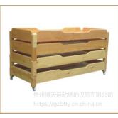 贵州来图定制可叠的优质沙木幼儿园儿童手工床 厂家现代简约风格木制定制批发