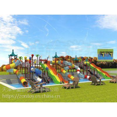 夏天的投资项目--水上乐园大型户外游乐项目水上滑梯