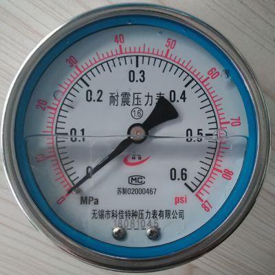 无锡苏科佳厂家直销带安装支架不锈钢压力表Y-60UB