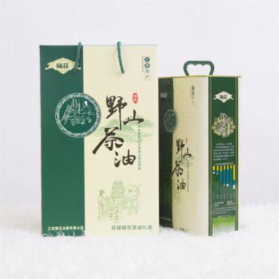 团购批发山茶油 5L铁桶礼盒装野山茶籽油 冷压榨一级食用月子油