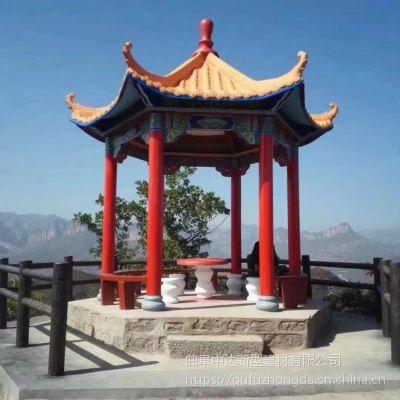淄博中达景观园林厂家低价出售水泥仿木长廊 美观葡萄架 仿古凉亭长廊架