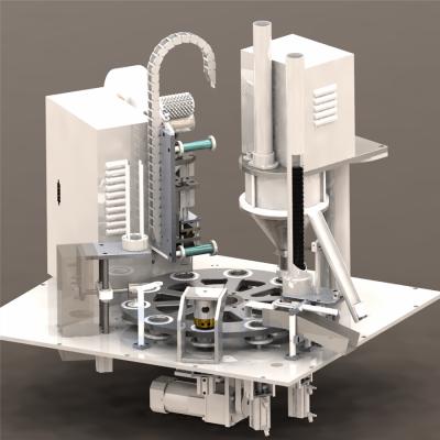 雀巢Dolce Gusto咖啡胶囊全自动灌装封口机 高速充填封膜机