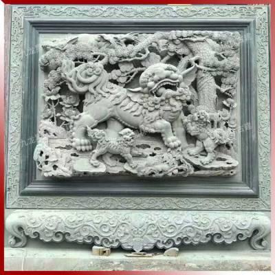 狮象浮雕建筑门面雕花宗族祠堂青石浮雕图案 价格 厂家 中国供应商图片