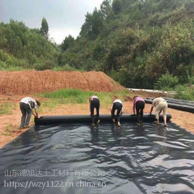 江苏地面蓄水池防渗膜施工铺设流程