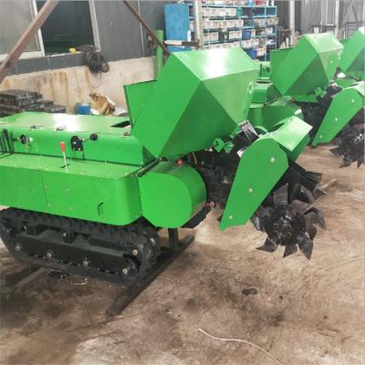 五大功能田园管理机 自走式履带施肥机