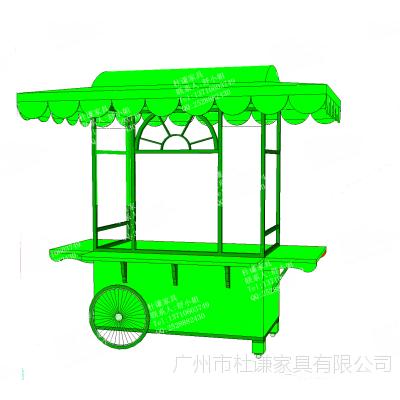 户外公园花车移动实木售货车流动小吃推车风景区特产售卖车供应南京