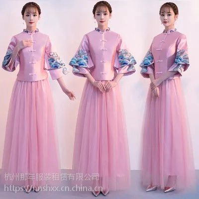 杭州哪里能租到不错的新娘敬酒服伴娘中式礼服?
