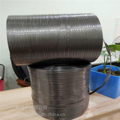 厂家直销28#黑色结束带 梅堰哪里有卖黑色PE结束带苏州纸盒黑色打包绳