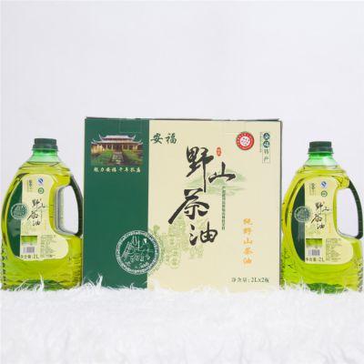 厂家批发代工油茶籽食用油 2L×2瓶装赣花野生山茶油 一件代发