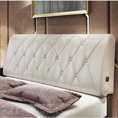 无床头软包榻榻米皮革床头靠垫靠枕大靠背垫床头罩软包定做可拆洗