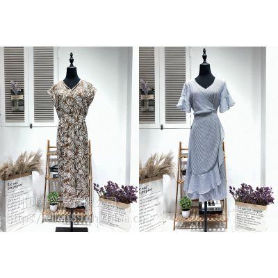 杭州一线大牌休闲时尚新款真丝女装相约四季品牌折扣店货源 专柜正品一手货源拿货渠道批发