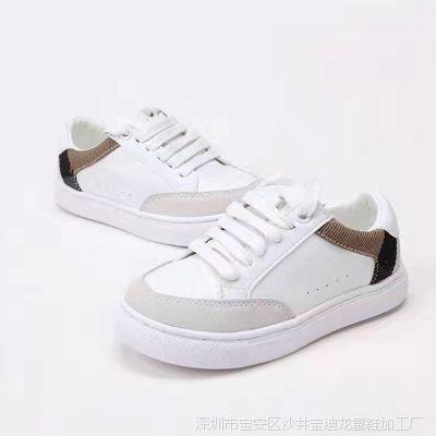 2018夏季新款真皮童鞋男童运动鞋儿童韩版外贸时尚板鞋欧美风潮