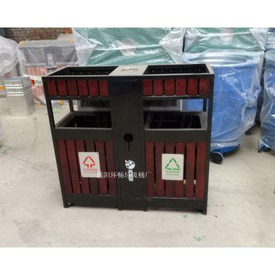 新款户外钢木垃圾桶报价 防腐木景观垃圾箱 旅游景区 公园垃圾箱 新款户外垃圾桶款式