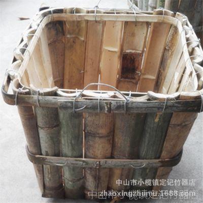 工厂直销竹箩筐 五金箩马赛克工厂用箩大竹片箩竹制品手工竹工艺