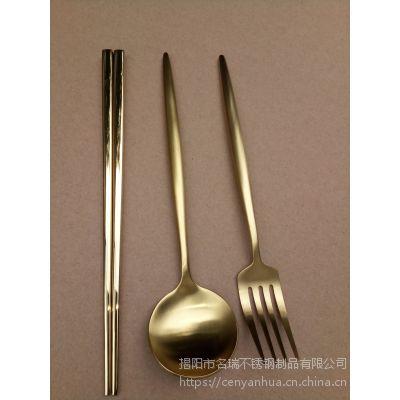 304不锈钢筷子、 镀金筷子 、全锥度方筷、揭阳名瑞筷子厂家