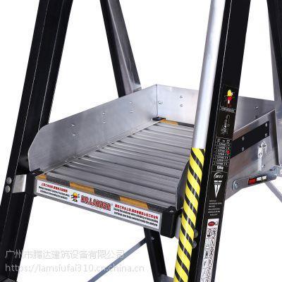 广州梯博士香港品牌玻璃纤维绝缘防腐梯,PL-SFY安全扶手梯平台梯