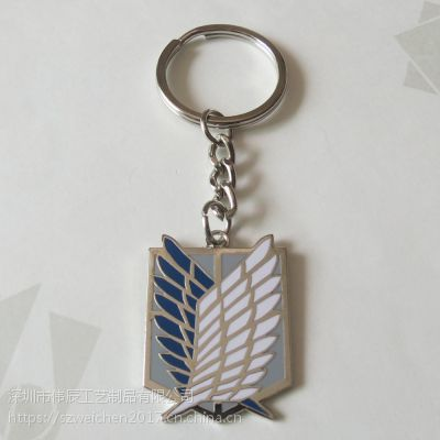 金属卡通钥匙环定制,挂件珐琅钥匙配饰,东莞五金锁匙扣